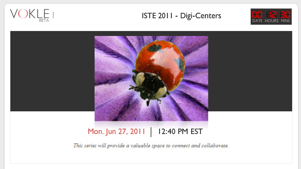 Connect with us on Vokle at ISTE 2011